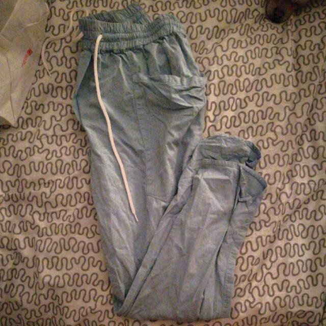Bassike Blue Track Pants