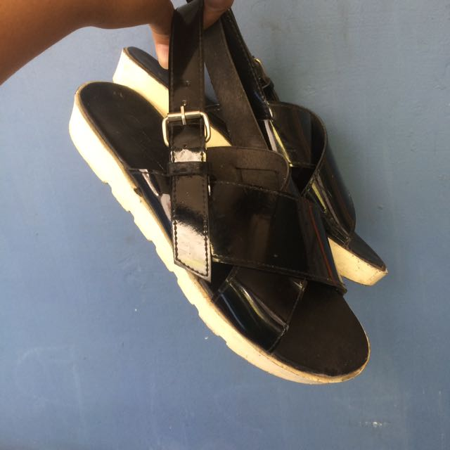 Black Sandals/sendal/sepatu
