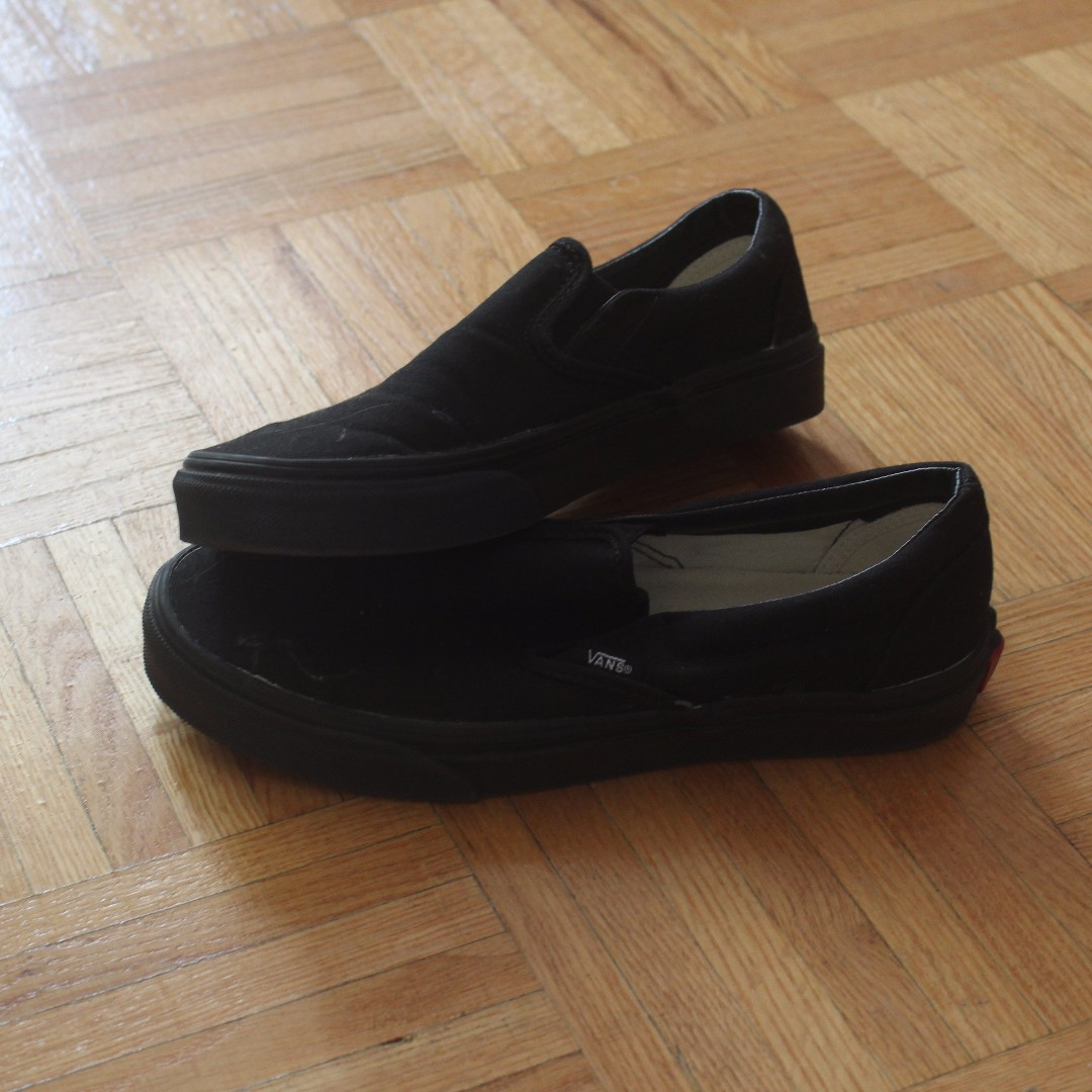 Black Slip on Vans