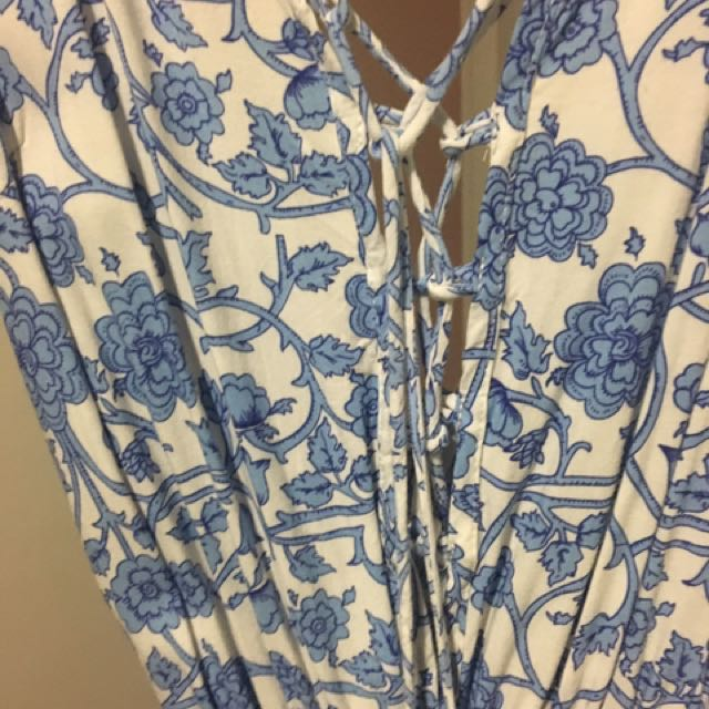Blue And White Size 6 Jumpsuit
