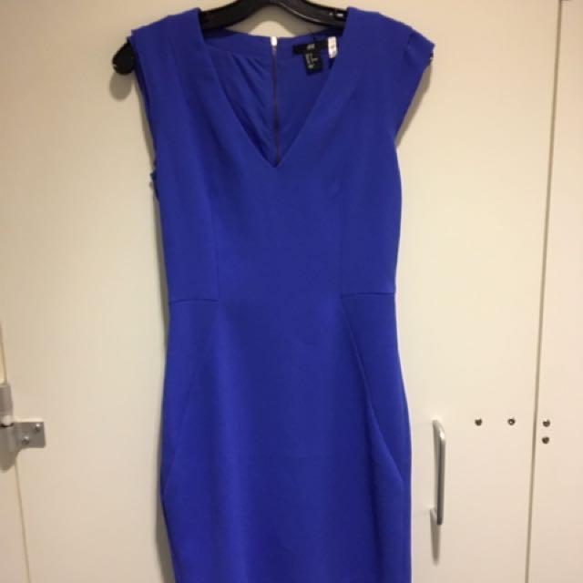 Blue Work Dress