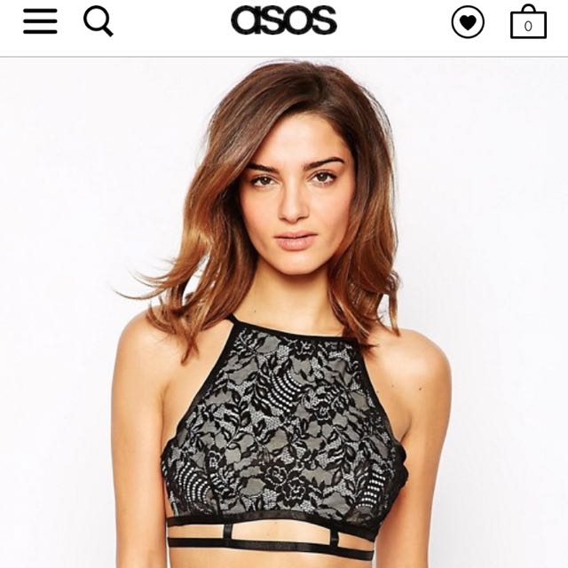 c653ebaf6a5 BN) Asos black lace Bralet Us 0/2, Women's Fashion, Clothes, Tops on ...