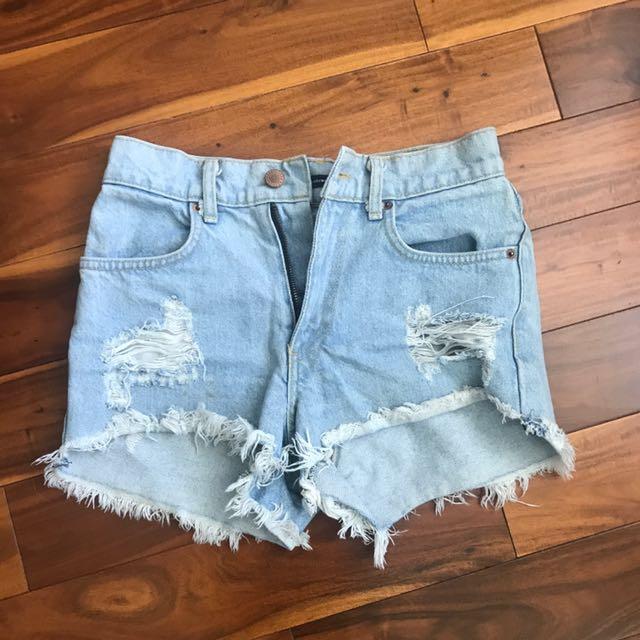 Brandy Melville Denim Shorts Size 26