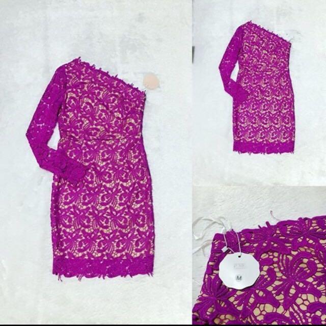 Brokat Prada Violet Dress