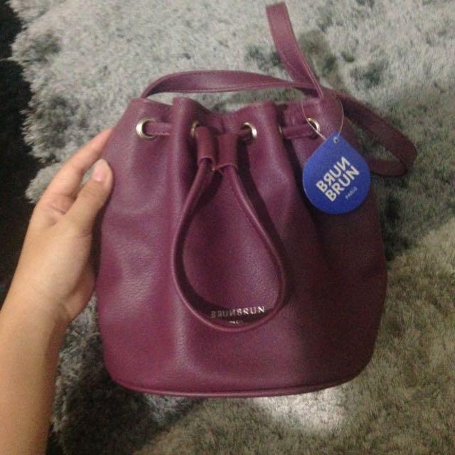 Brunbrun Bucket Bag Burgundy