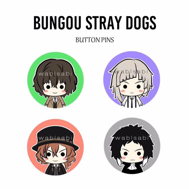 Bungou Stray Dogs Button Pins