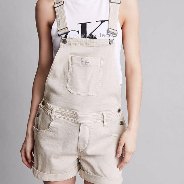 Calvin Klein Khaki Short Overalls