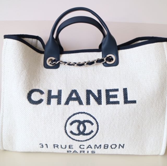 chanel deauville tote 2017