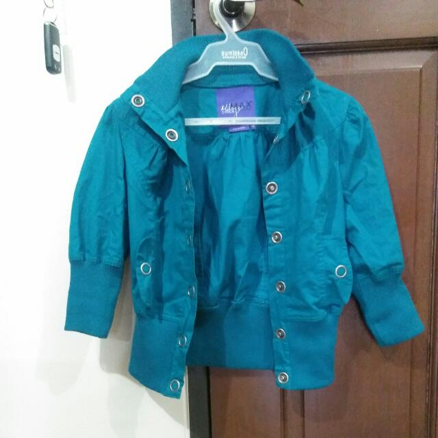 Color Teal Authentic Miley Cyrus Jacket