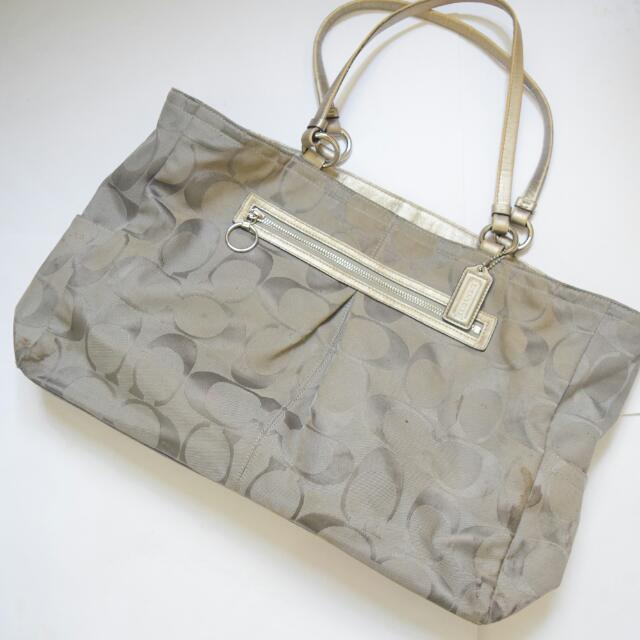 COACH Canvas Tote Bag Grey