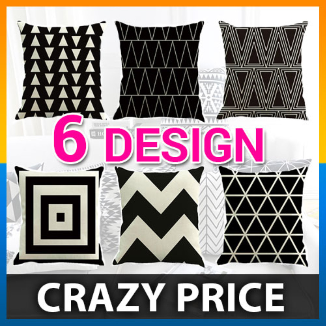 Cushion Cover Geometric Triangles Stripe Pillow Decorative Pillow Case