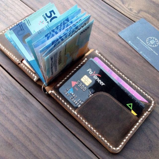 Customizable Leather Moneyclip Wallet | Dompet Kulit Unisex