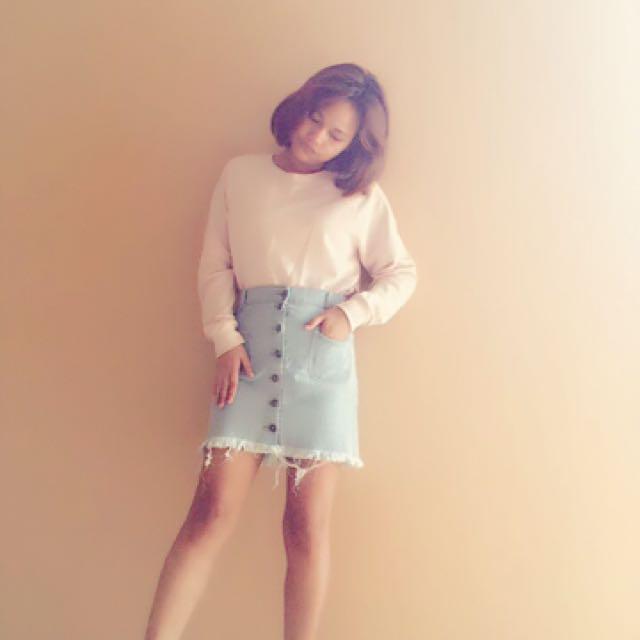 Denim Korean Skirt