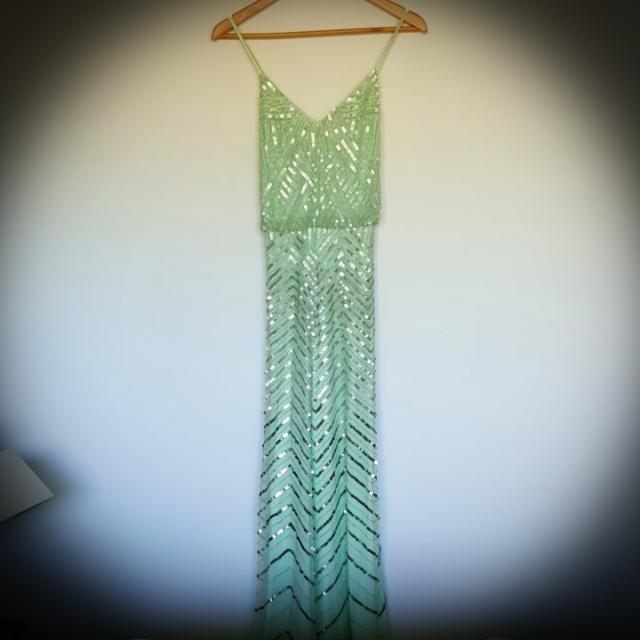 Divine Beaded Cocktail Gown Size 10
