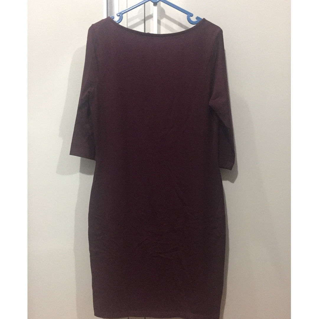 Dress Bodycon Maron Newlook