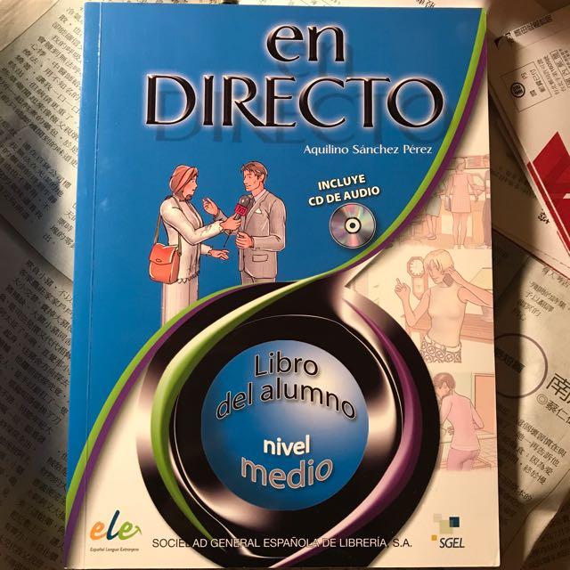 en Directo medio, libro del alumno + CD 西班牙文用書