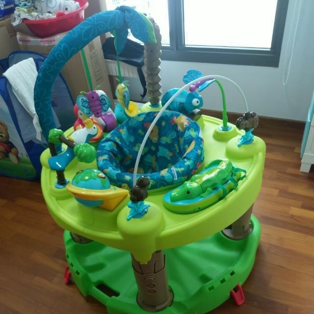 91ae18560 Evenflo ExerSaucer Triple Fun - Jungle (preloved)