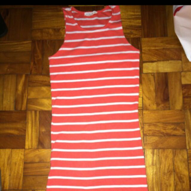 F21 Striped Fitted Dress