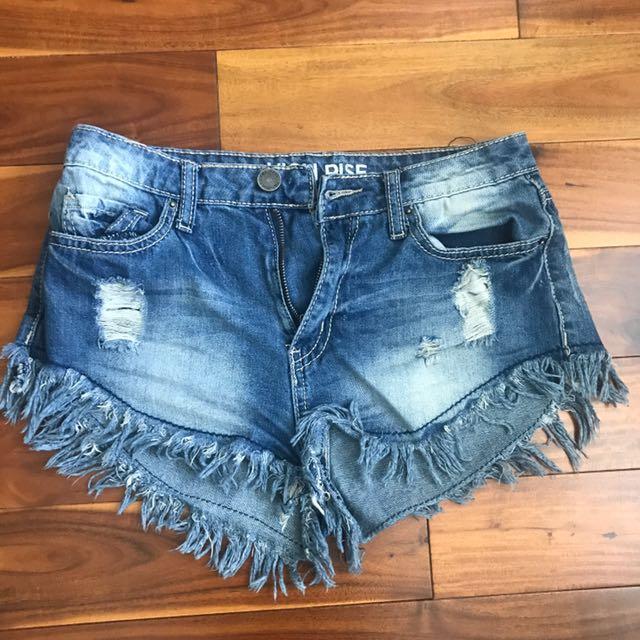 Fashion Nova YMI Frayed Shorts