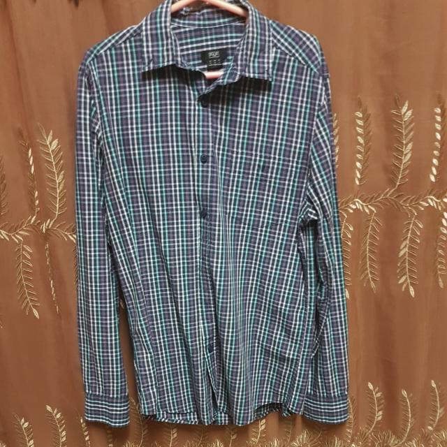 **REPRICED**F&F Checkered Long Sleeves (Small)