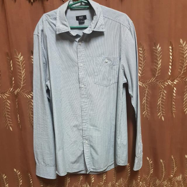 **REPRICED**F&F Light Checkered Long Sleeved Polo (Small)