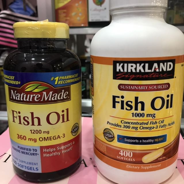 Fish oil ( kirkland, nature blend)
