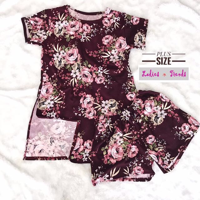 Floral Terno Plus Size