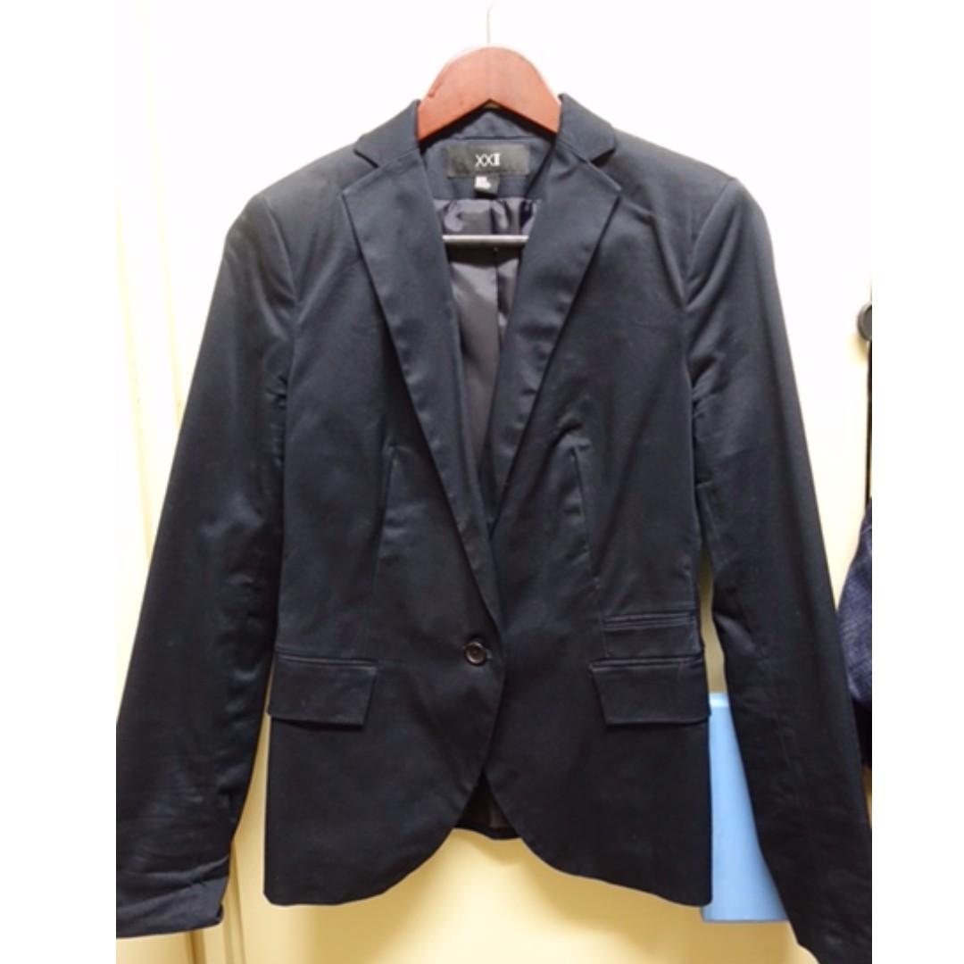 Forever 21 Navy Blue Coat/Blazer SIZE M