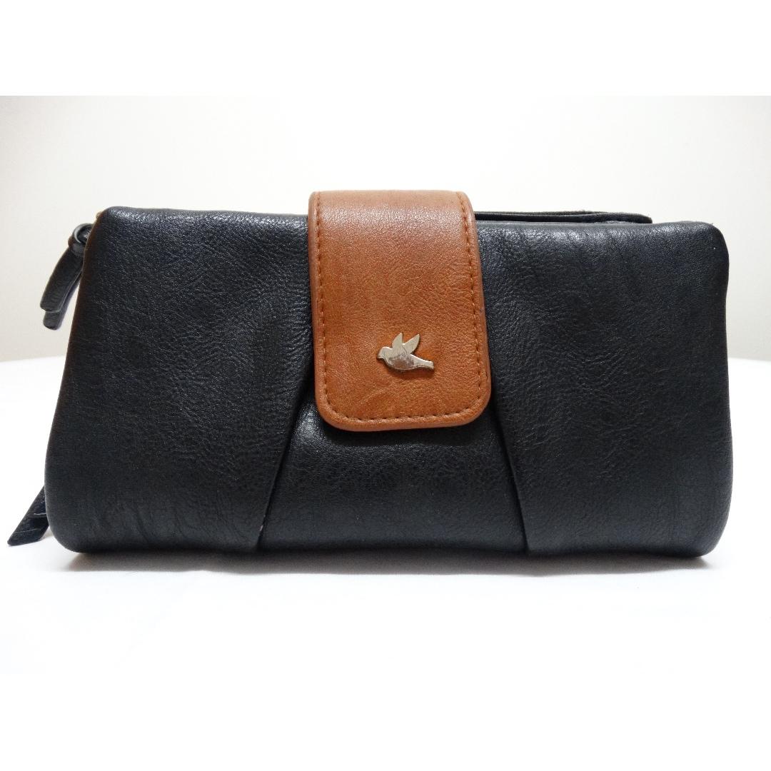 Genuin leather BLUEBIRD XL WALLET Black Brown