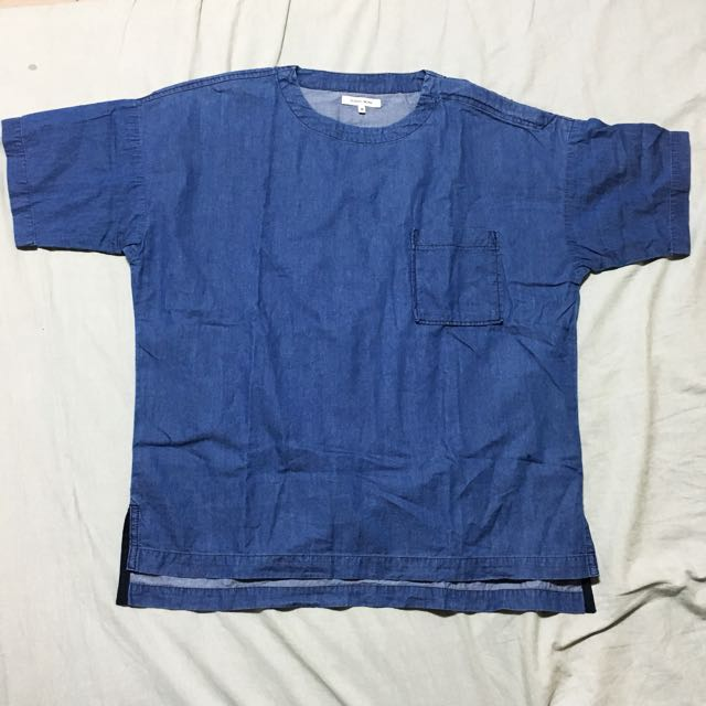 GLOBAL WORK 男圓領日系落肩T恤 M號