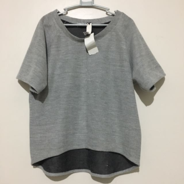 Gray Top (Thick Woven Material)