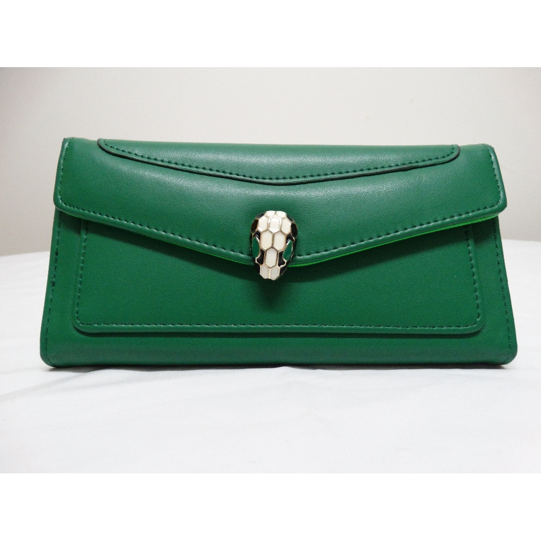 Green Snake head wallet