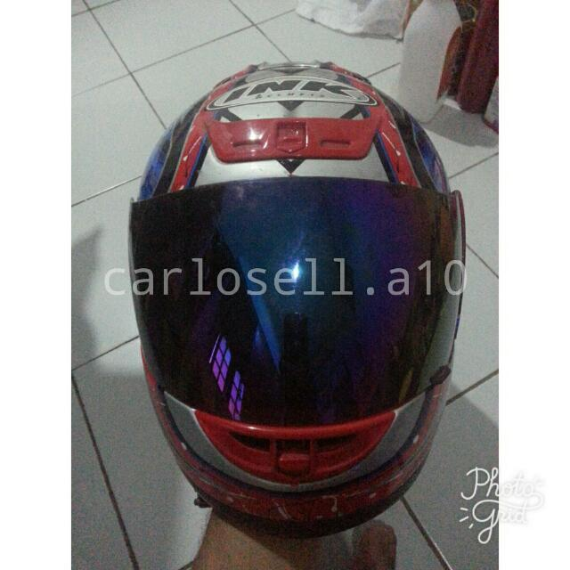 Helm Ink Full Face Red
