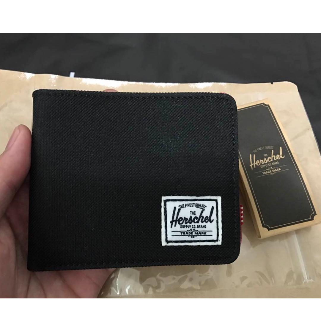 「現貨」Herschel Roy Wallet  皮夾 短夾 帆布 輕薄 黑/內裏星空