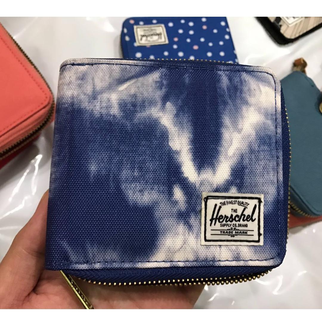 「瑕疵特賣」Herschel Walt wallet 牛仔帆布 金屬拉鍊 短夾  皮夾