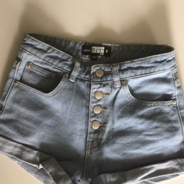 High Wasted Denim Short