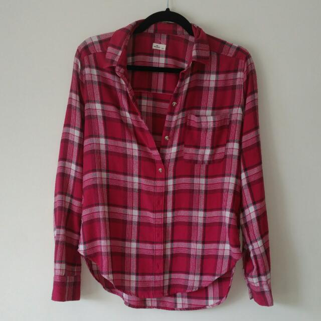 Hollister Red Flannel