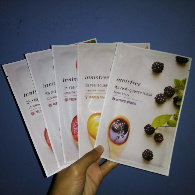 Innisfree It's Real Squeeze Mask + BONUS BB CREAM!!!