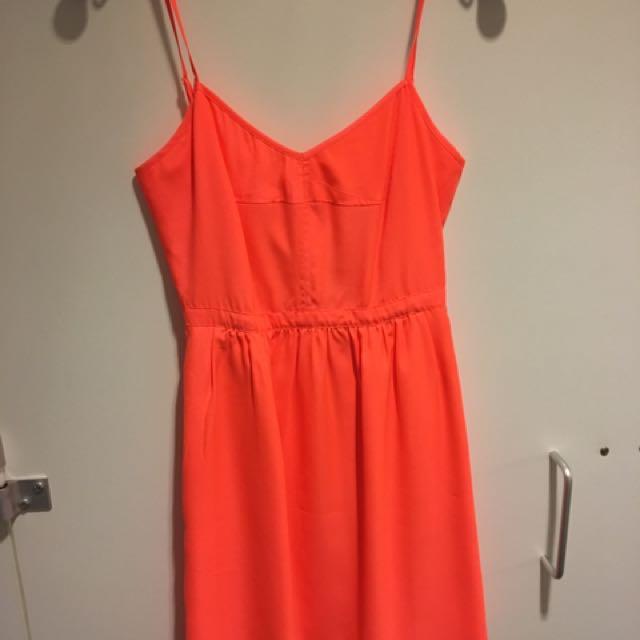 J Crew Orange Sundress