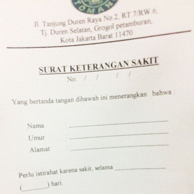 Contoh Surat Dokter Daerah Malang Surat 25