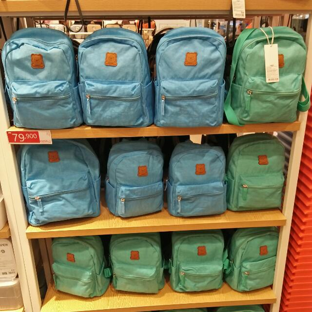 (Jastip) Small Backpack By Miniso