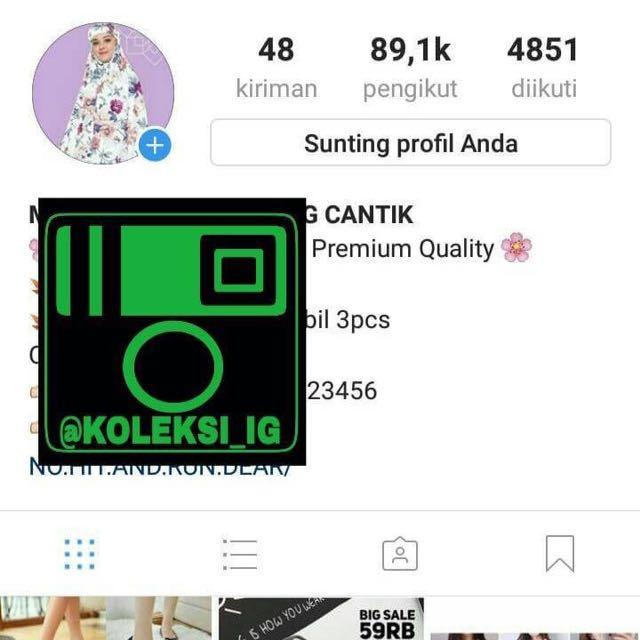 Jual Akun Instagram Murah Telkomsel Informa
