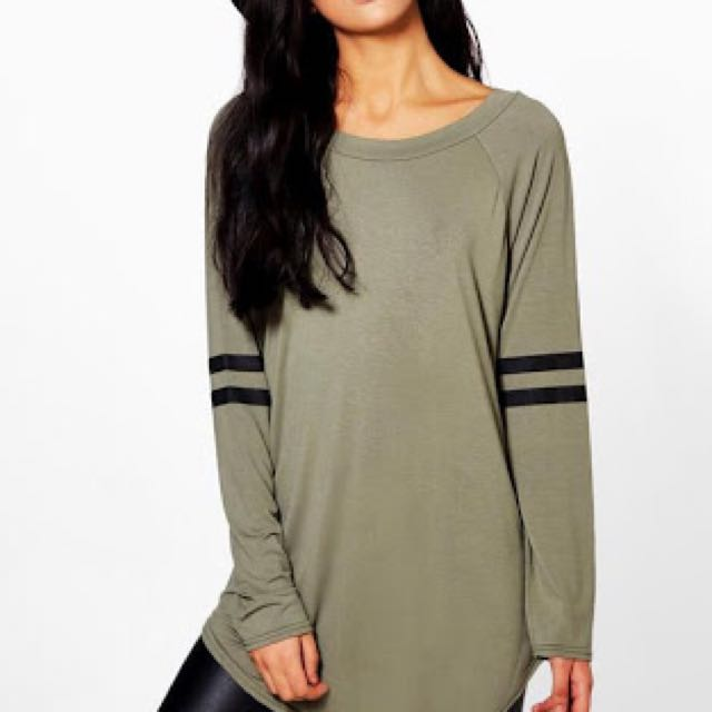 Katie Long Sleeve Baseball Tunic