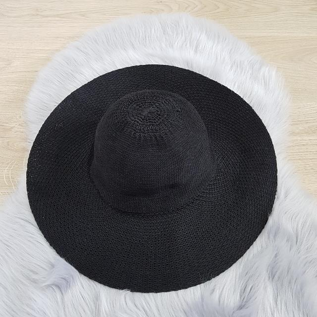 Ladies Wide Brim Black Hat