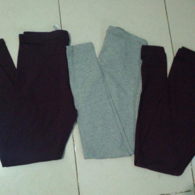 Legging Forever 21 Ori And New .purple And Grey