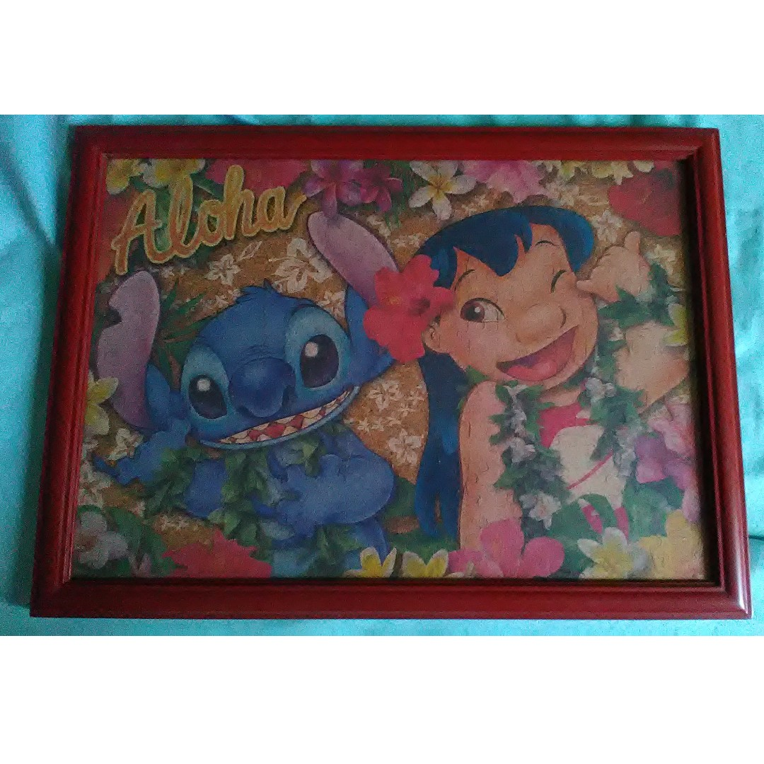 Lilo and Stitch Jigsaw Puzzle with frame, Design & Craft, Handmade ...