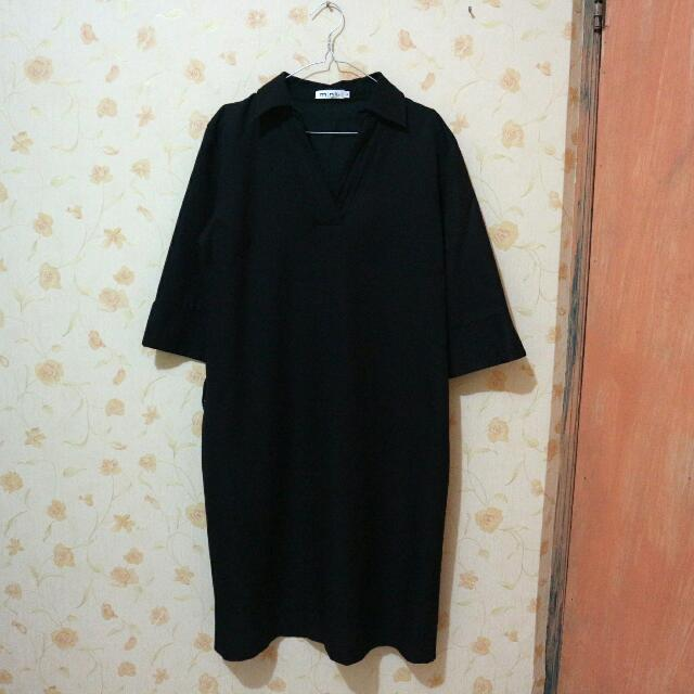 MINI DRESS BLACK MERK MINT