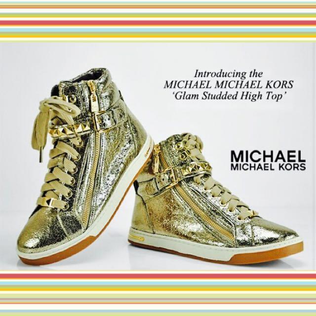 MK Michael Kors Glam Studded High Top