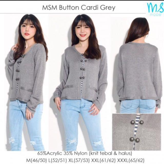 MSM Button Cardi Grey
