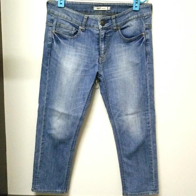 NET 彈性牛仔褲(26腰)